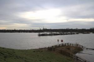 Lippehochwasser,Fuchsbachmündung
